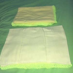 Other - Yellow matching bib and blanket set